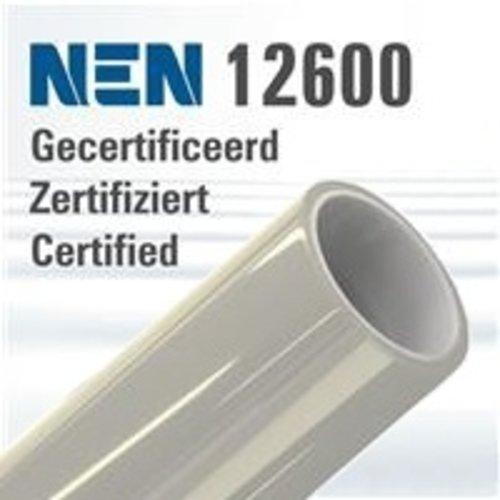 NEN-EN 12600 zertifiziert