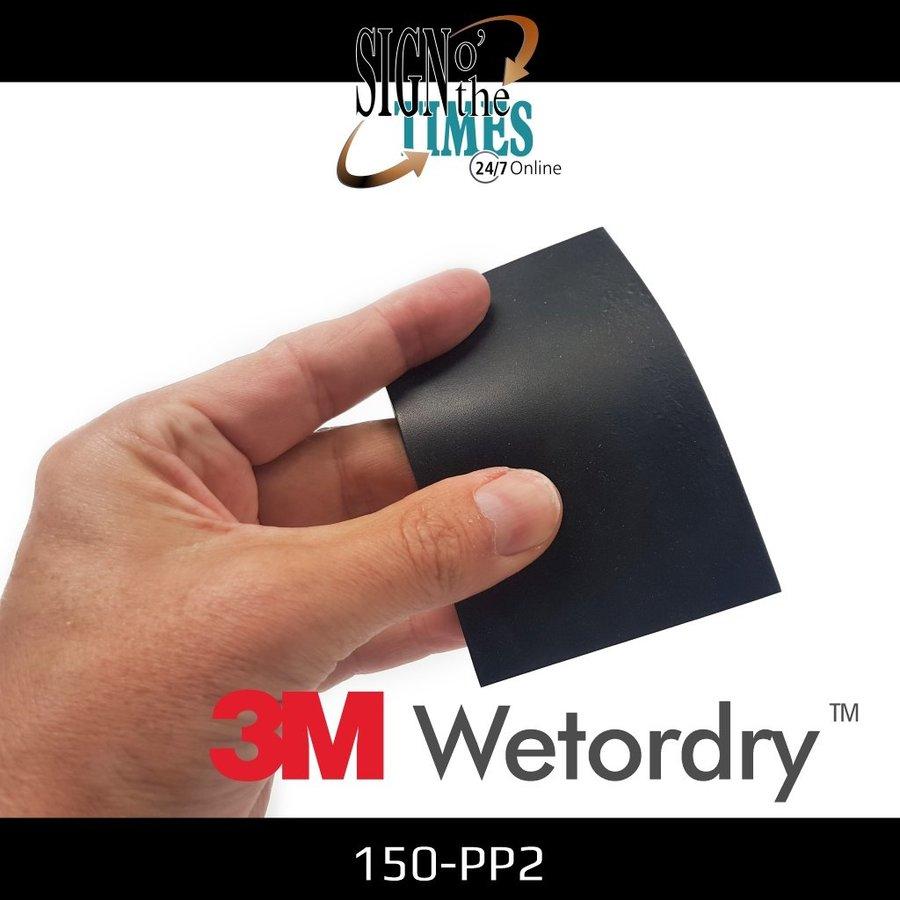 WET-OR-DRY Rubber Rakel Schwarz 150-PP2-6