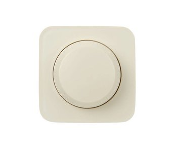Single dimmer button cream suitable for Busch Jaeger SI