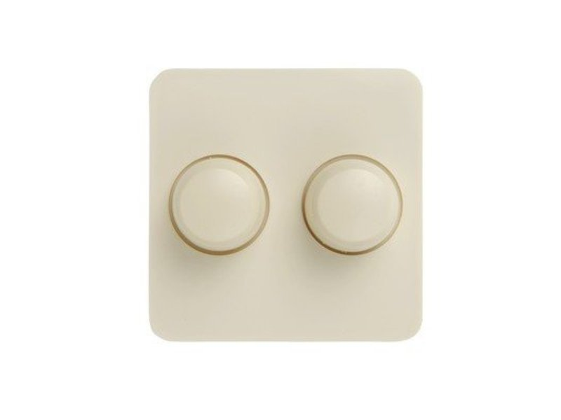 Dual dimmer button cream suitable for Berker M2