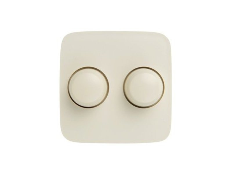 Double dimmer button cream suitable for Busch Jaeger SI