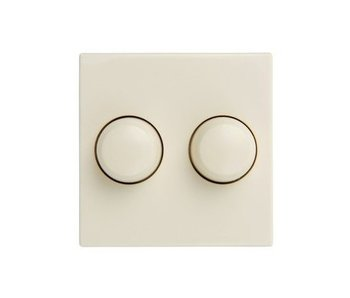 Twin dimmer button cream suitable for Gira Standard 55