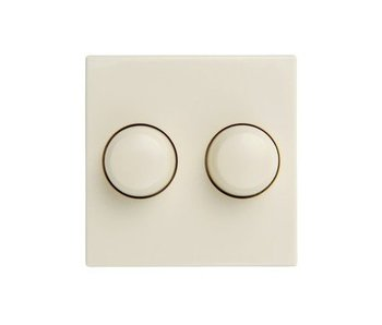 Double dimmer button cream suitable for Merten M-Smart
