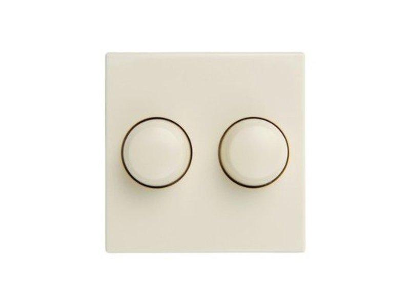 Double dimmer button cream suitable for Merten M-Smart