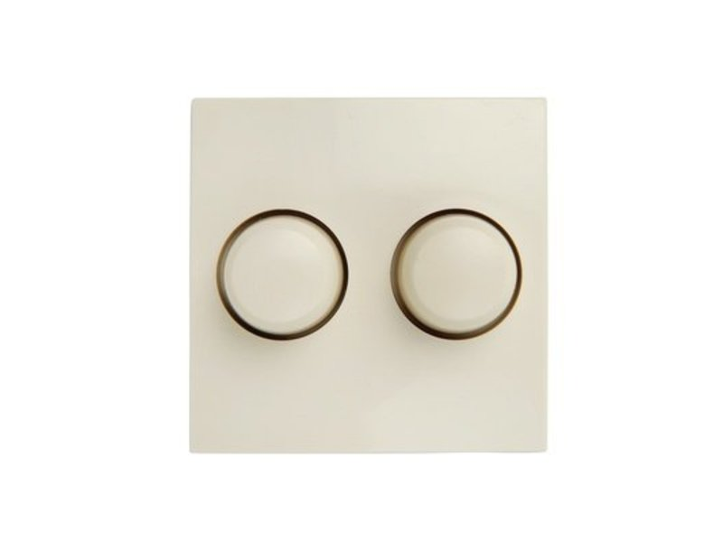 Dual dimmer button cream suitable for Berker S1