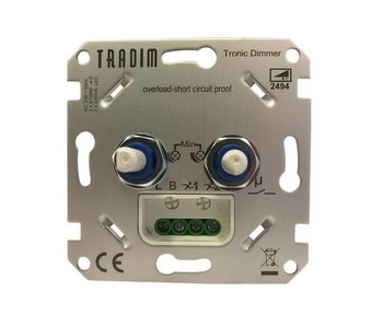 Tradim 2494 LED Double Dimmer 2x 3-100 Watt