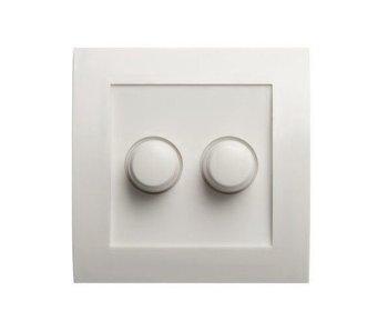 Bouton blanc à double variateur adapté à Tradim