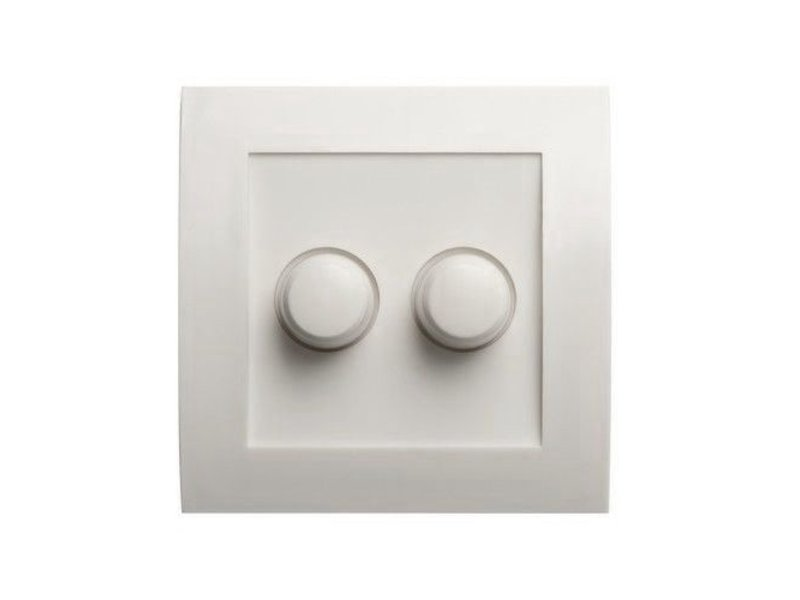 Dual dimmer button white suitable for Tradim