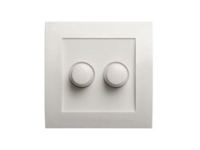 Dubbele dimmerknop wit geschikt voor Tradim