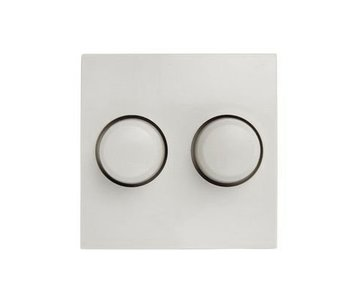 Bouton blanc à double variateur adapté au Berker S1