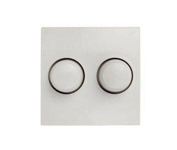 Dubbele dimmerknop wit geschikt voor Berker S1