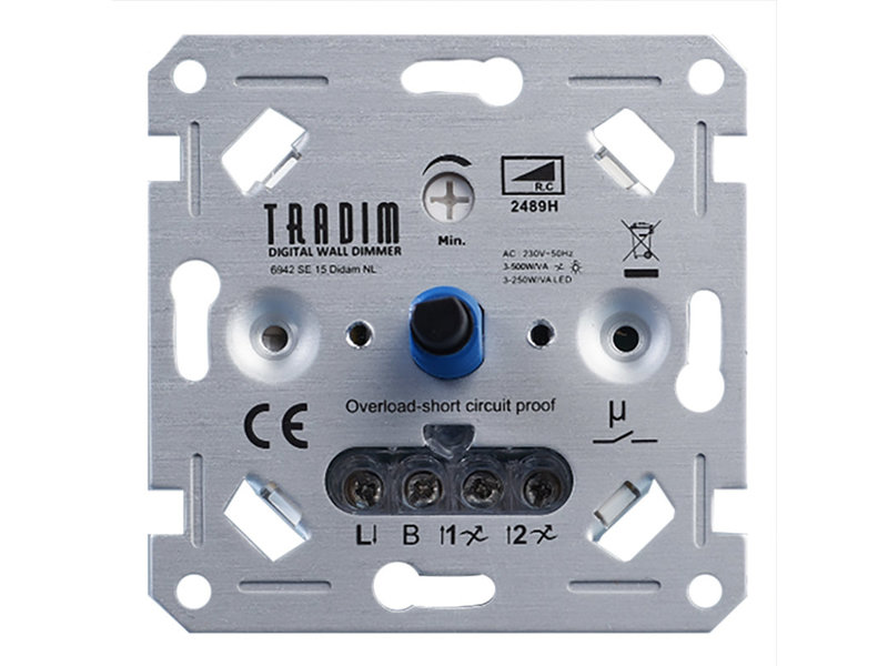 Tradim 2489H 500W LED wall dimmer