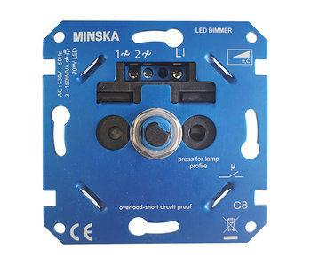 Minska 2455 IKEA LED wall dimmer 3-70 Watt
