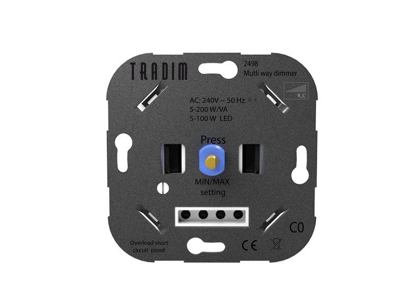 Tradim 2498 Multicontrol wall dimmer