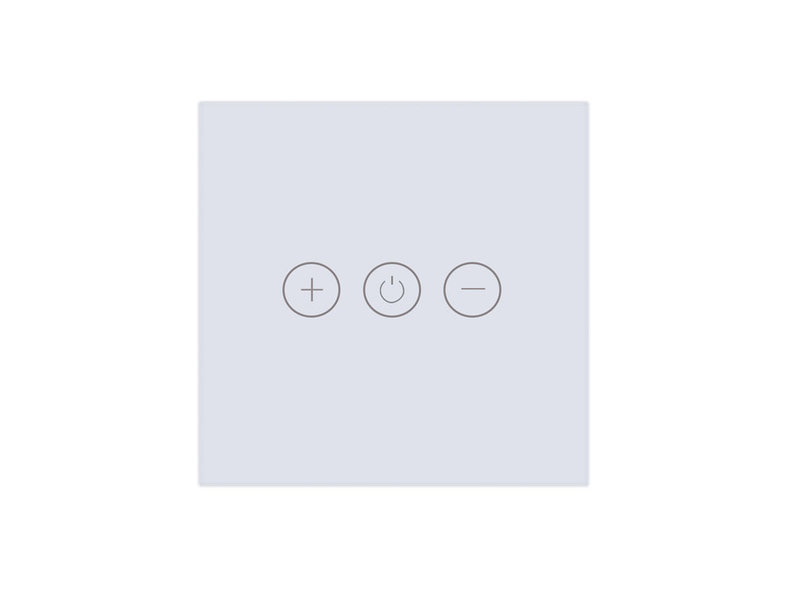 Tradim 25021B Glass Touch wall dimmer white
