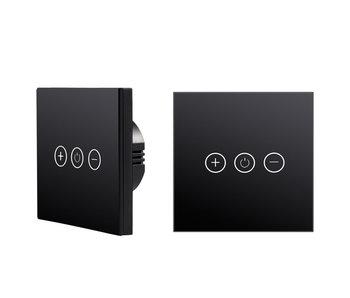 Tradim 25022B Glass Touch muurdimmer zwart