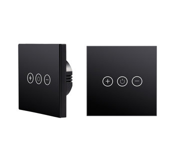 Tradim 25022B Glass Touch wall dimmer black