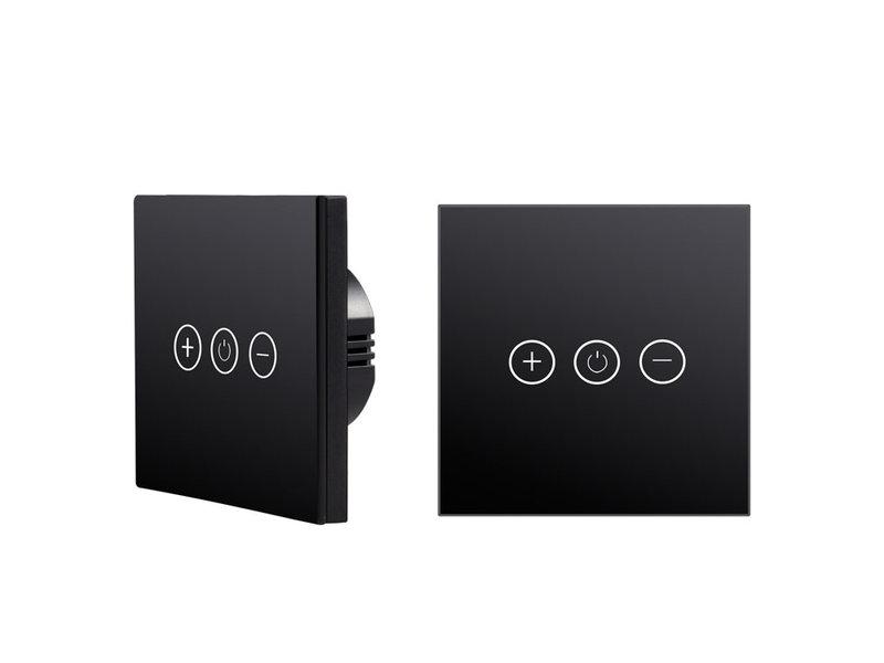 Tradim 25022B Glass Touch wall dimmer black