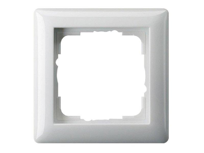 Gira Standaard 55 afdekraam enkelvoudig wit 021103