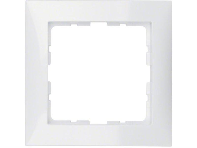 Berker S1 cover frame single white 10118989