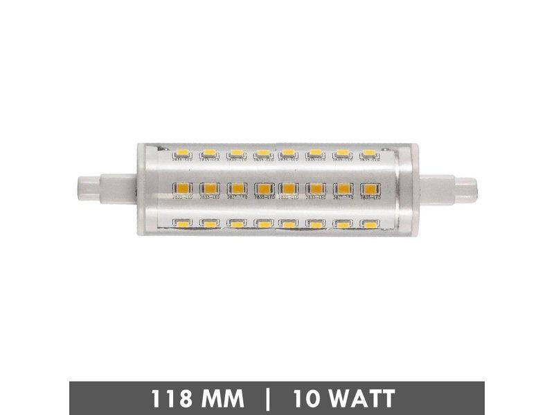 ET48 R7s lampe de tube 118mm 10 watts LED dimmable