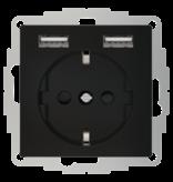2USB inCharge PRO 55 - Jet Black