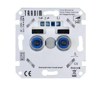Tradim 2482 duo dimmer 2x 5-75 Watt