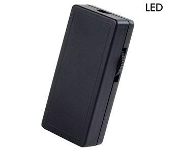 Tradim 62102 LED gradateur de cordon 1-25 Watt noir