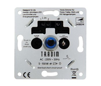 Tradim 2490HP LED tronic dimmer 5-150 Watt met 8 dimprofielen