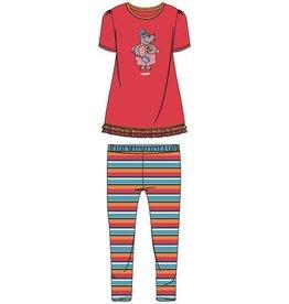 Meisjes-Dames pyjama, grenadine rood