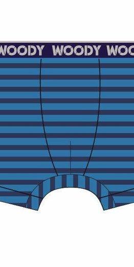 Woody Jongens short, blauw-donkerblauw gestreept