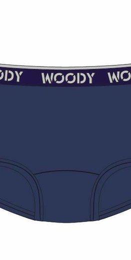 Woody Meisjes short, donkerblauw