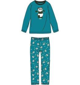 Woody Jongens-Heren pyjama, turquoise