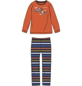 Woody Jongens-Heren pyjama, fel oranje