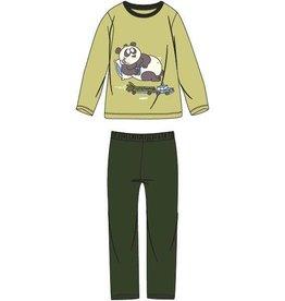 Woody Unisex pyjama, limegroen