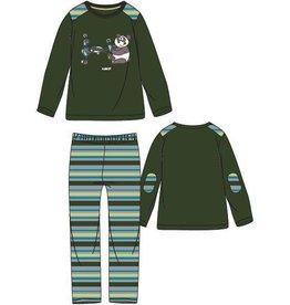 Woody Jongens-Heren pyjama, donkergroen