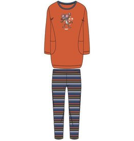 Woody Meisjes-Dames pyjama, fel oranje