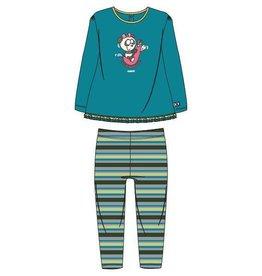 Woody Meisjes pyjama, turquoise