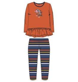 Woody Meisjes pyjama, fel oranje