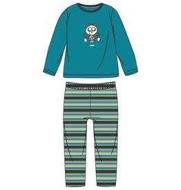 Woody Jongens pyjama, turquoise