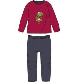 Woody Unisex pyjama, donkerrood