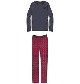 Woody Jongens-Heren pyjama, donkergrijs