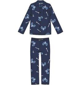 Woody Jongens pyjama, blauw muis all-over print