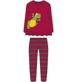 Woody Meisjes-Dames pyjama, donkerrood