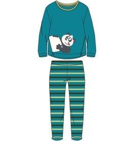 Woody Meisjes-Dames pyjama, turquoise