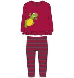 Woody Meisjes pyjama, donkerrood