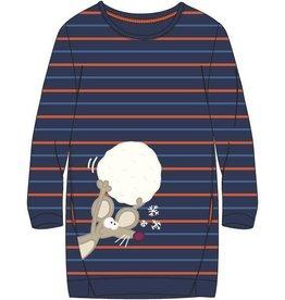 Woody Slaapkleed, blauw-oranje gestreept