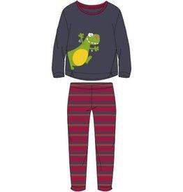 Woody Meisjes-Dames pyjama, donkergrijs