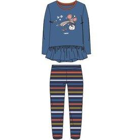 Meisjes-Dames pyjama, blauw