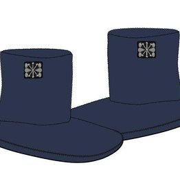 Woody Dames pantoffels, donkerblauw